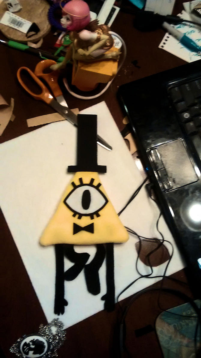 Bill Cipher Plush by fokkusu1991