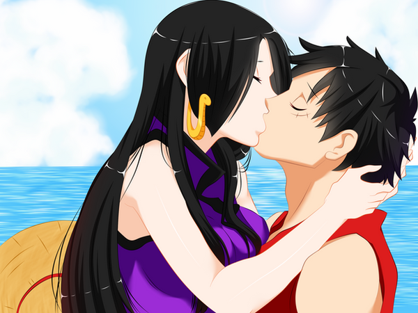 one piece luffy and hancock relationship