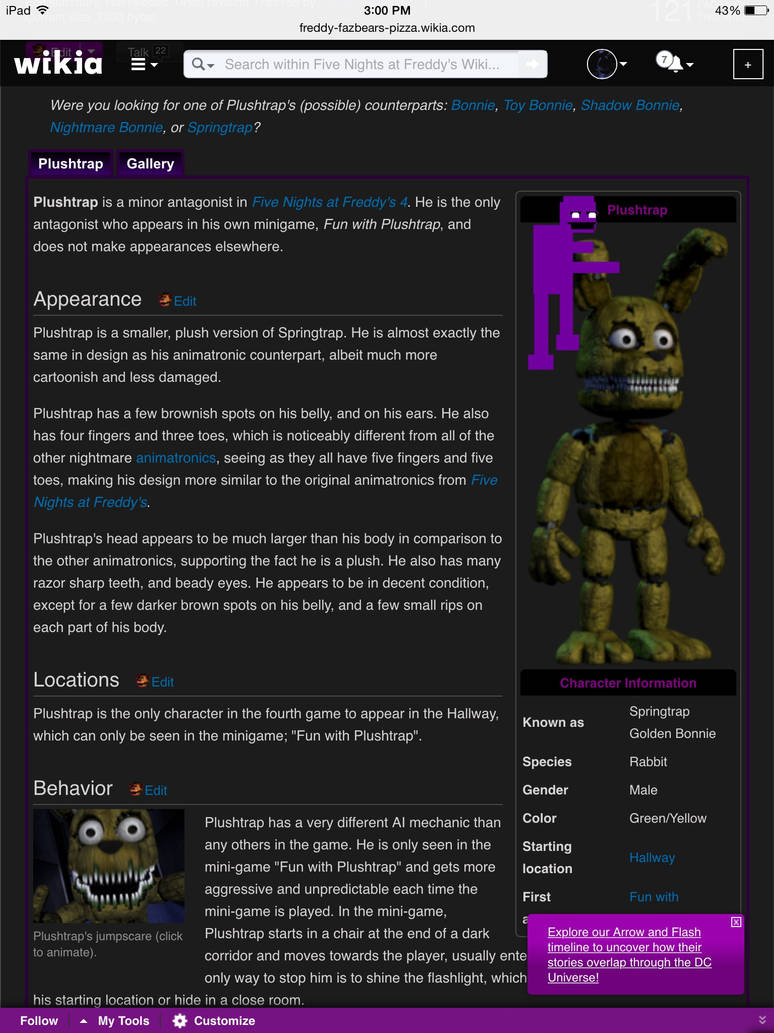 This was Flying Around on the FNaF Wiki! by Thatgoldenbear