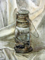 an old lamp by flutear