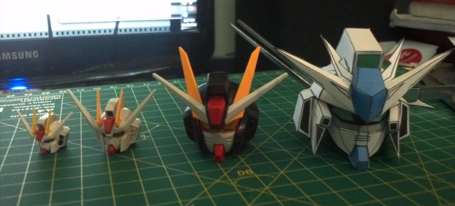 SD RX 93 2 Hi V Gundam Paper Model