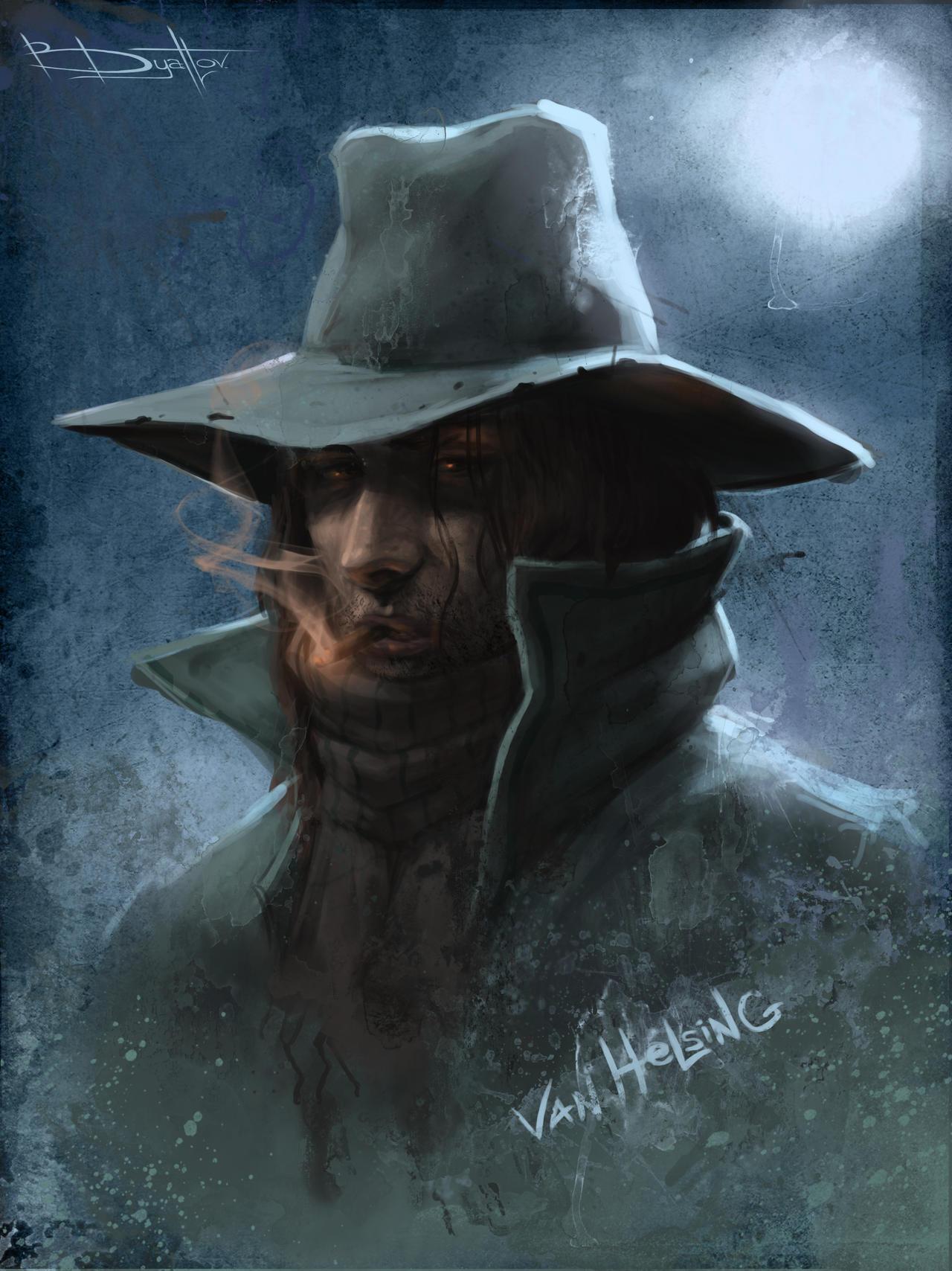 van helsing by boris dyatlov digital art drawings paintings fantasy    Van Helsing Drawing