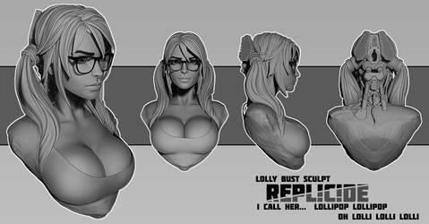 Lolly bust sculpt