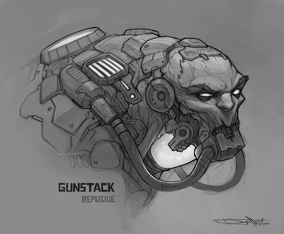 Gunstack sketch by Boris-Dyatlov