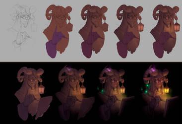 Fairy Artist Progress