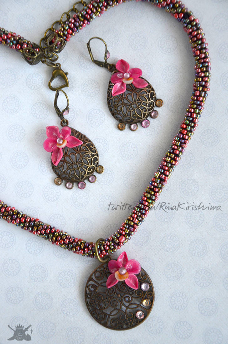 Pink Orchid Jewelry Gift Set 02 by AlterDoll