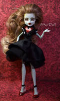 Dark Frankie custom Monster High doll