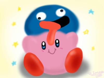 Kirby and Gooey by luzthekiller34