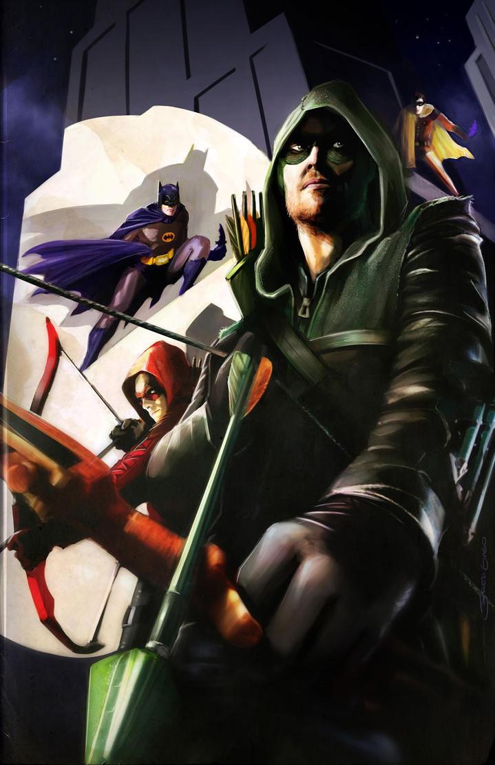 Batman '66 Meets Arrow by Gagoism