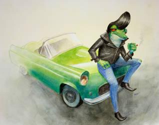 Greaser Frog by Ah-Leeza