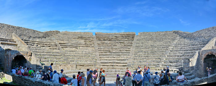 Pompeii Teatro Piccolo Panorama by travelie