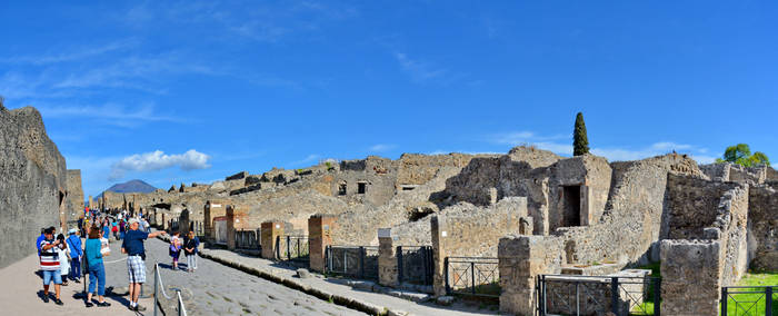 Pompeii Via Stabiana Panorama by travelie