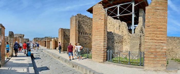 Pompeii Via dell Abbondanza Panorama by travelie