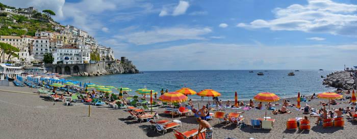 Amalfi Beach Panorama by travelie