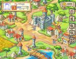 Medieval game mockup