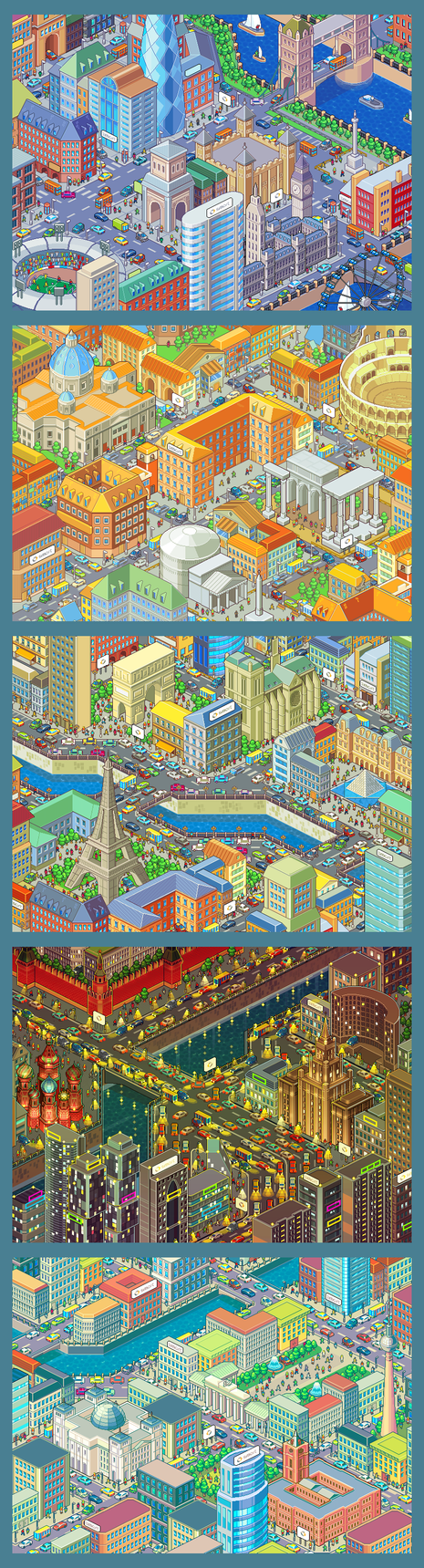 Pixel cities for Smart Russia by raynoa