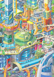 Futuristic city, for mairu 2013 caledar