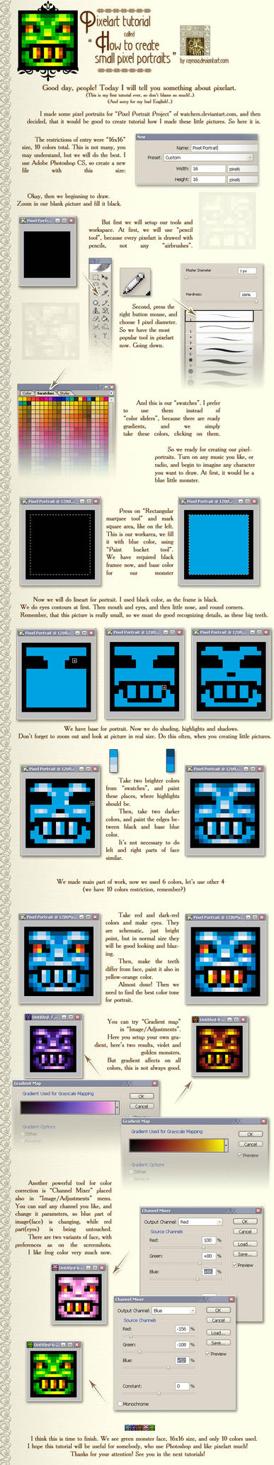Pixel Portraits Project tutor by raynoa