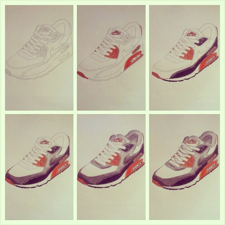 Nike Air Max 90 Infrared Progress Capture by Brainboxillustrator ...