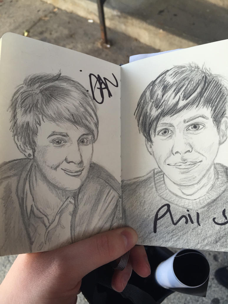 Dan and Phil Moleskine by GodzNinja