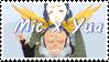 Boku No Hero Academia OC~ Mic x Mortride Stamp by KendySketch