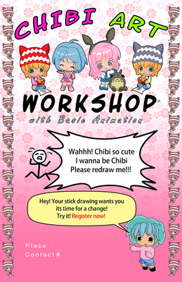 Chibi Art Workshop Poster