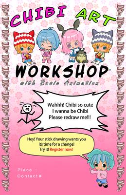 Chibi Art Workshop Poster