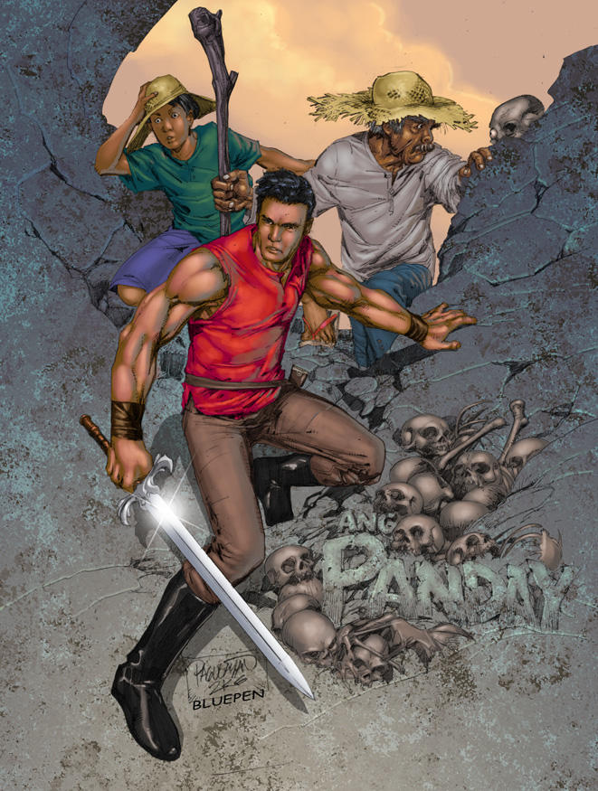 ang panday Panday is a blacksmith whose real name is flavio when a meteor fell from the sky one night, he forged the metal from the meteor into a dagger, the balaraw when he raises the dagger to the see fu.