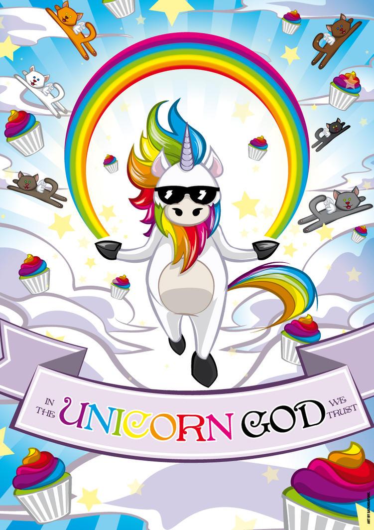 In The Unicorn God We Trust by Satanisapunk