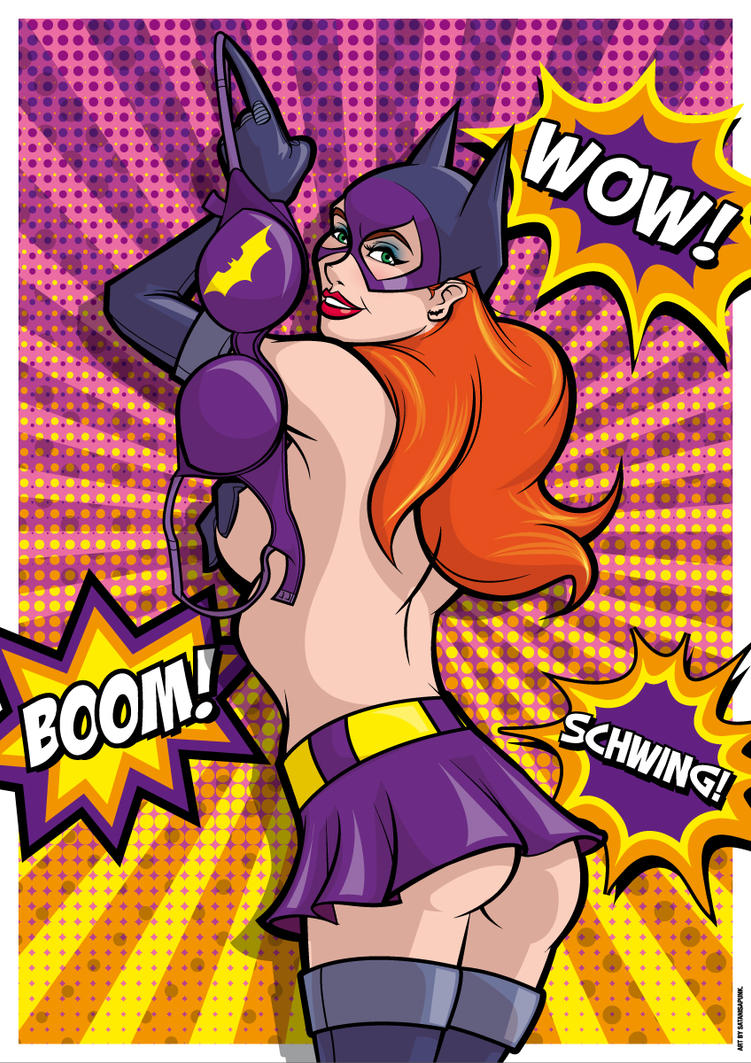 Batgirl! Wow! Boom! Schwing! by Satanisapunk