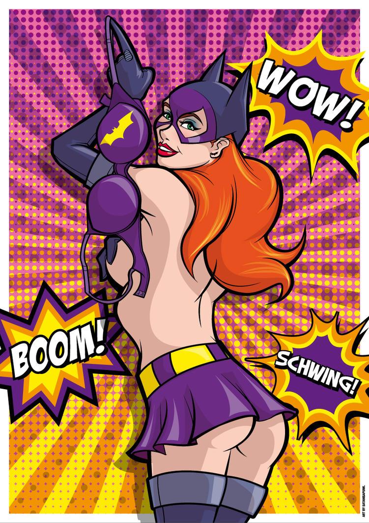 Batgirl! Wow! Boom! Schwing! by Satanisapunk