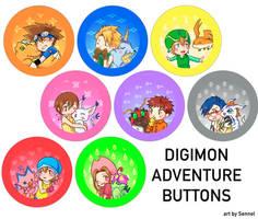 Digimon Adventure 01 Buttons