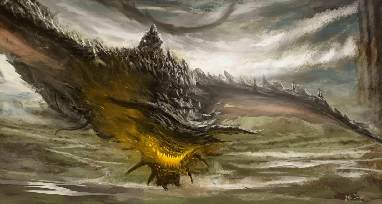 Dragon ride by JulioDionizioArt