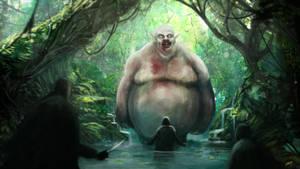pale naked jungle troll