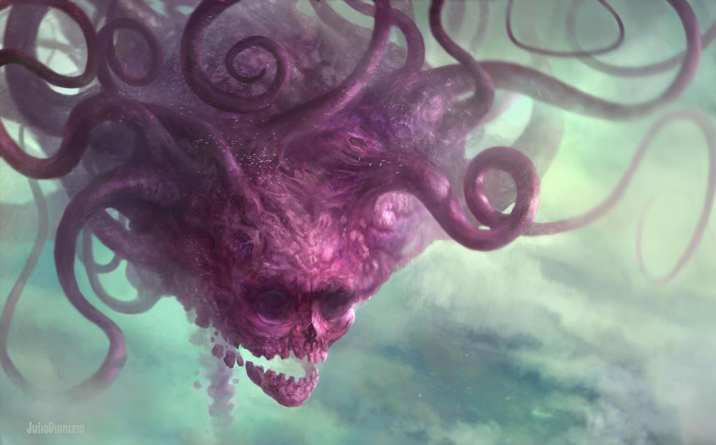 Crimson Sky Kraken by JulioDionizioArt