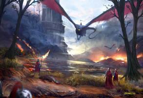 Dragon strike by JulioDionizioArt