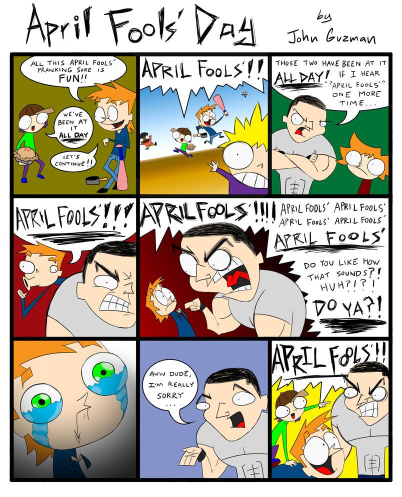 Free Comic Book Day Etiquette: April Fools Day Comic By JohnAGuzman On DeviantArt