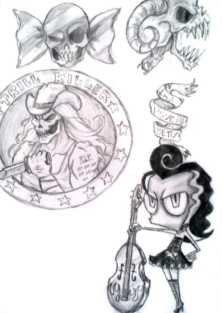 Tattoo Sketches by Candys-Killer