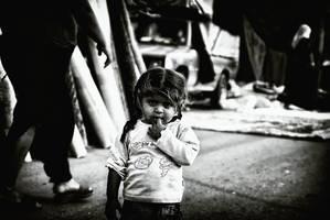kids portrait in street by GDALLIS