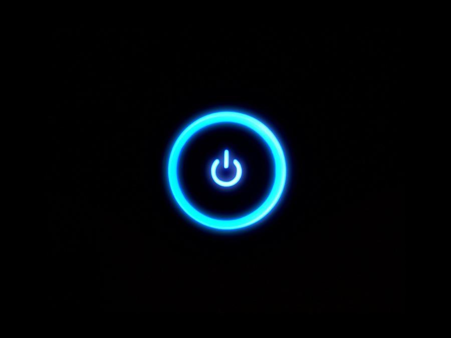 Blue Power Xbox Power Button Blue Button Xbox