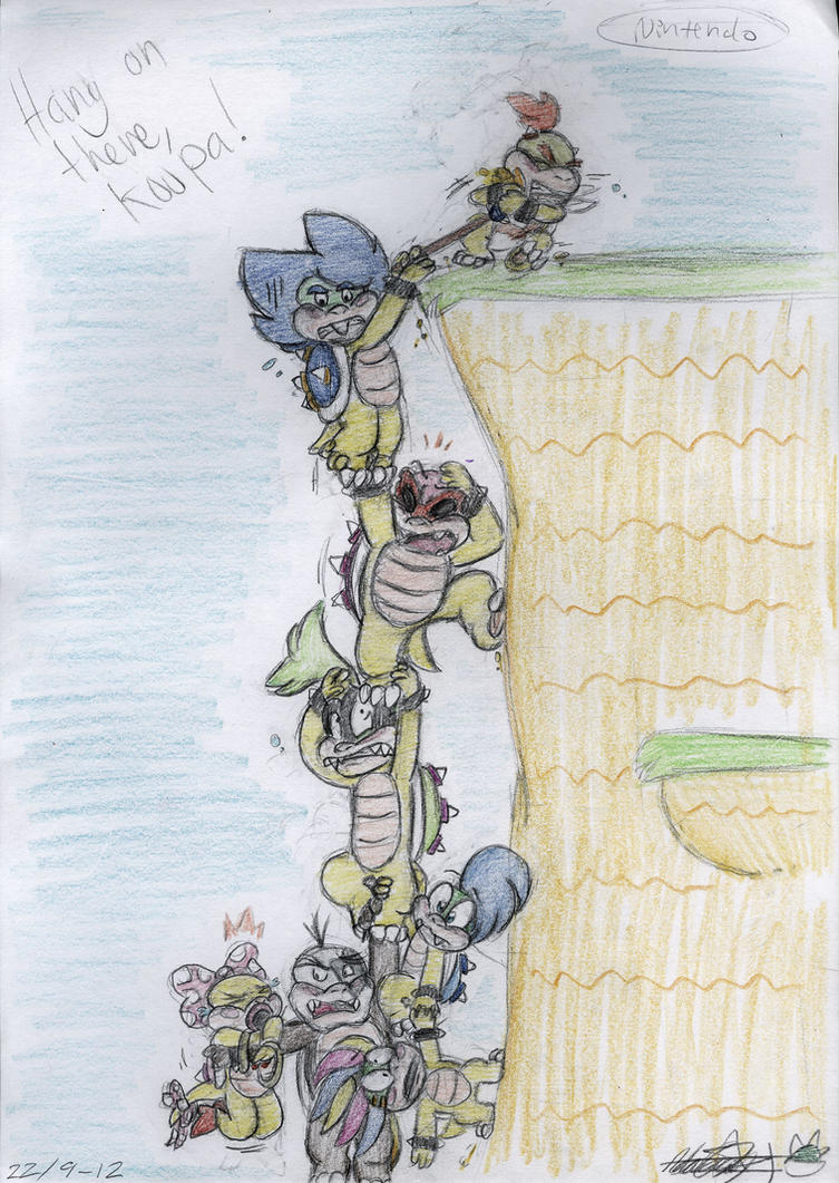 Hang on there, Koopa! by ScreeKeeDee