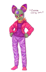 Cackletta Wearing Pants