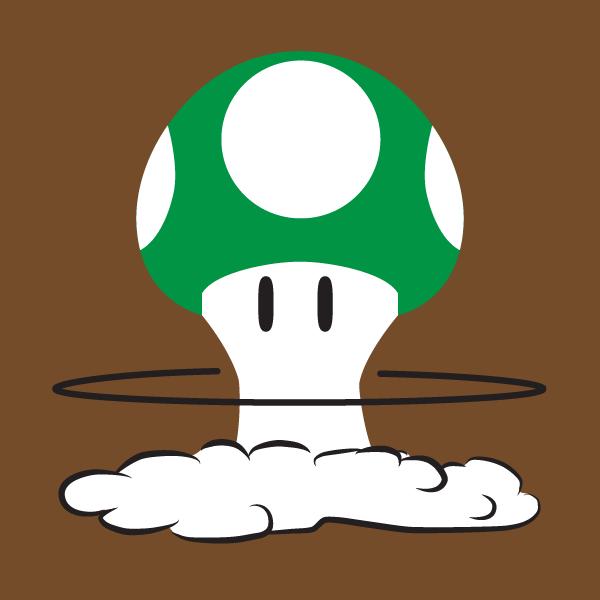 Mushroom Cloud Stencil One up mushroom cloud by the-