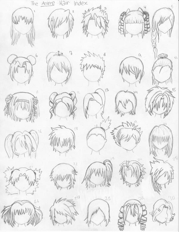 The Anime Hair Index by xxangelsilencex on DeviantArt