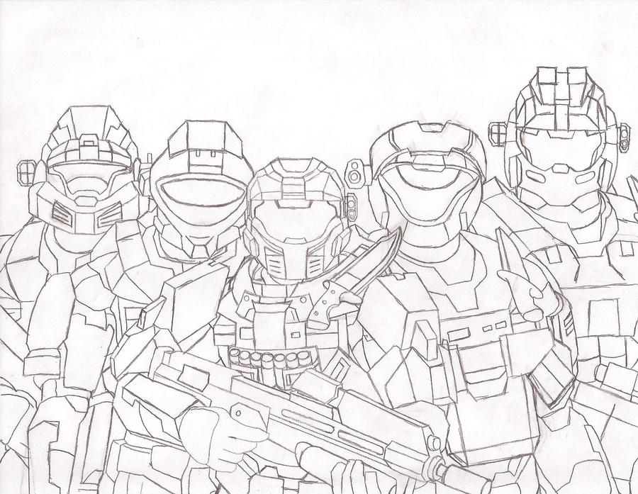 Halo 5 Coloring Sheets How To Draw A Helmet Step By