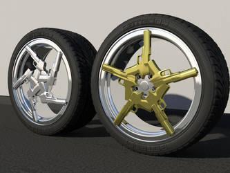 Gun wheel 3D by ShapeDestro