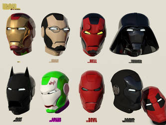 Costumes for Iron Man by ShapeDestro
