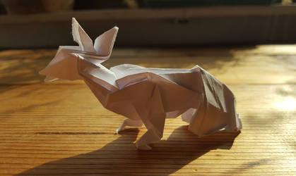 Origami: Sitting Deer by p4ndor4TheBox