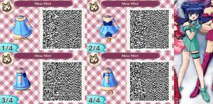 Animal Crossing QR Code Mew Mint by SuperAngel502