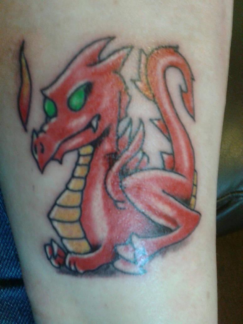 My welsh dragon tattoo by ShortySmith